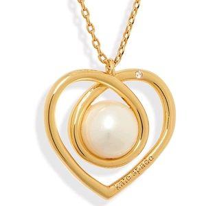 NEW Kate Spade Infinite Pearl Hearts Pendant
